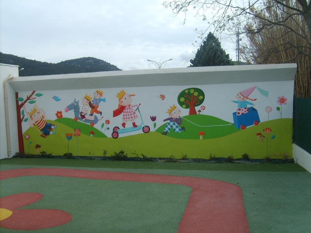 """Peindre Une Fresque Sur Un Mur crèche d'entreprise adale """"les petits princes"""" - les"""