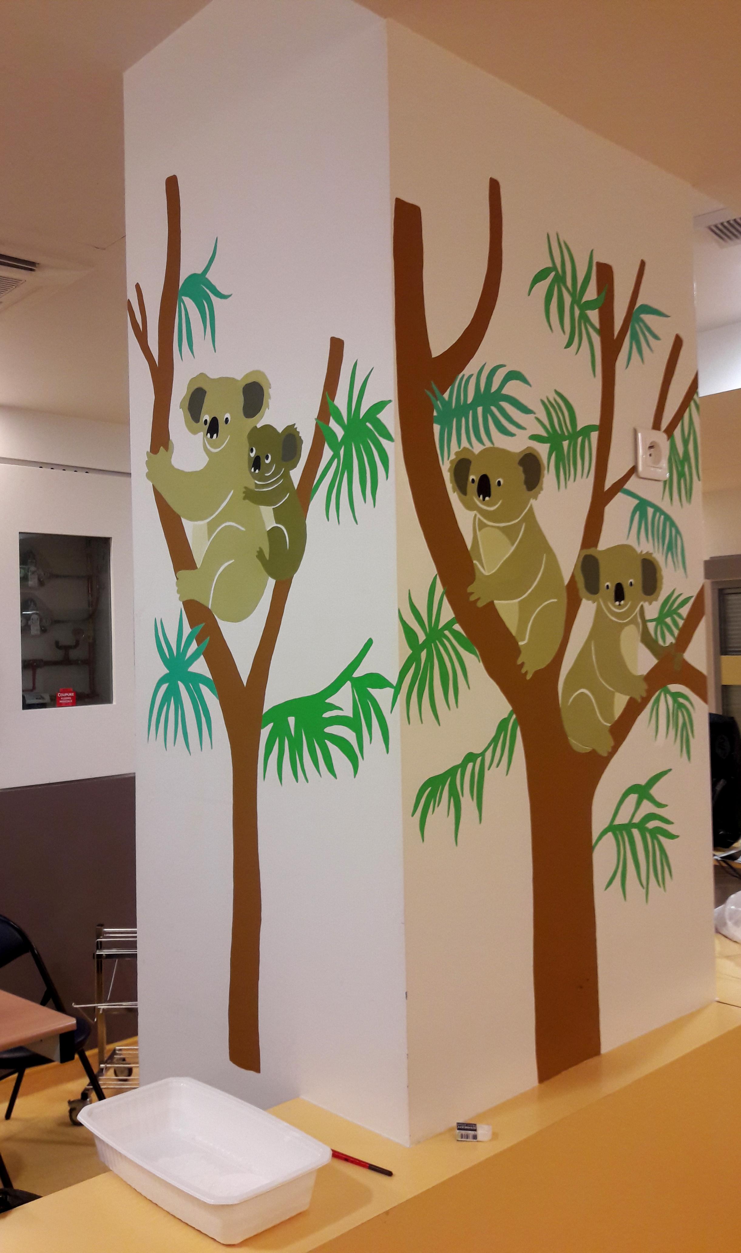 Koalas les fresques d 39 milie chollat - Hopital port royal service gynecologie ...