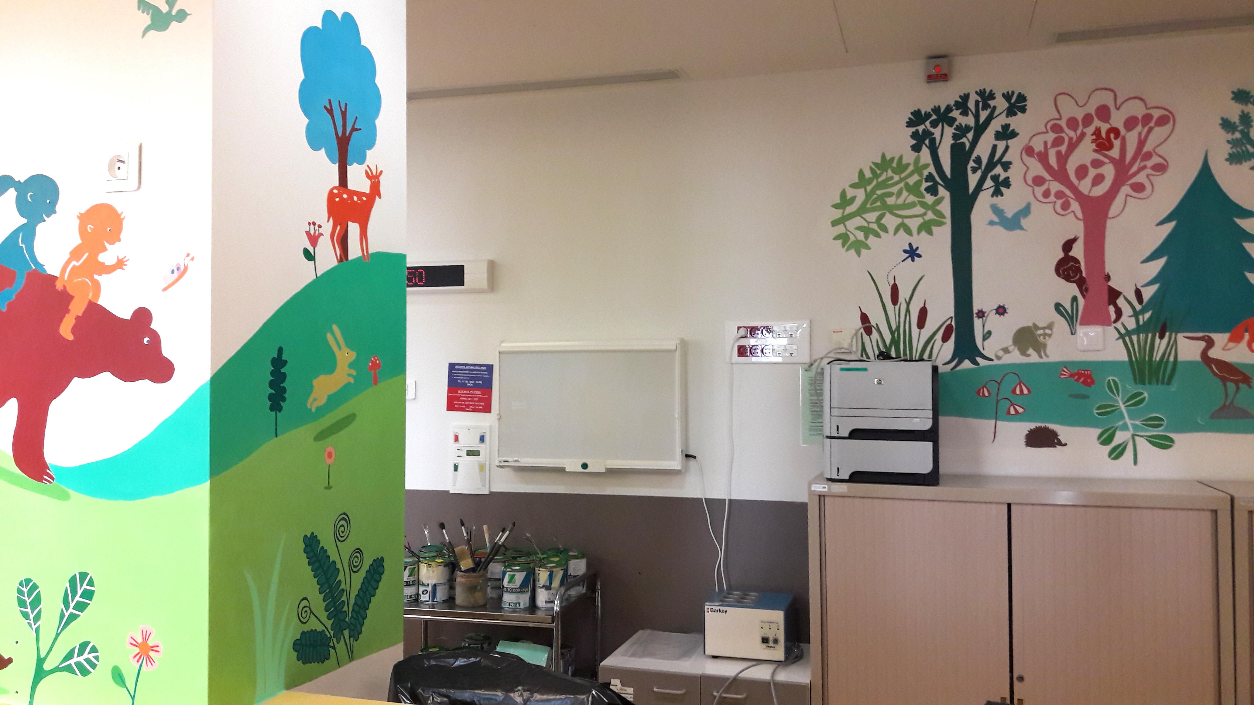 Rea poste soin les fresques d 39 milie chollat - Hopital port royal service gynecologie ...