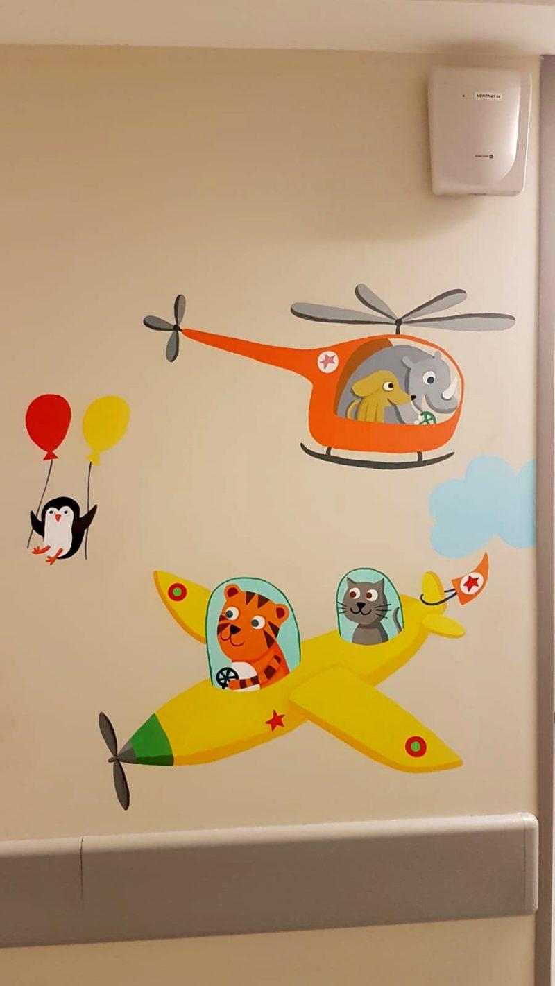 detail mur avions